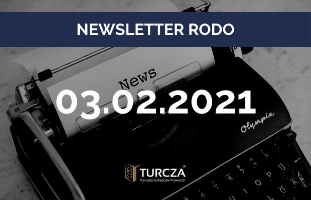 NEWSLETTER RODO (3.02.2021)
