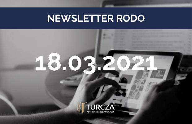 NEWSLETTER RODO (17.03.2021)